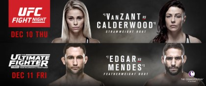 UFC Fight Night 80 & TUF 22 Finale tickets on sale friday Sept.25