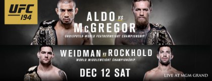 UFC 194 Bout Order Finalised