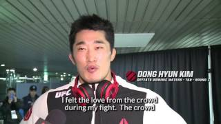 UFC Fight Night Seoul: Dong Hyun Kim Backstage Interview