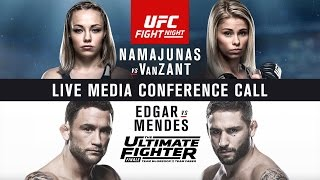 UFC Fight Night Las Vegas and The Ultimate Fighter Finale Media Conference Call