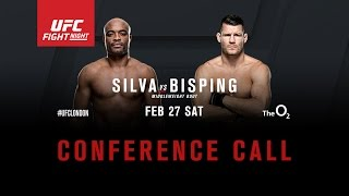 UFC Fight Night: Silva vs. Bisping Media Conference Call