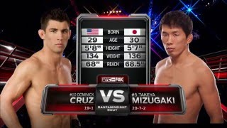 Watch Dominick Cruz take on Takeya Mizugaki at UFC 178
